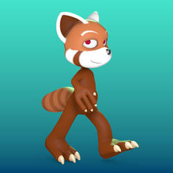Red-Panda Project Walk-Cycle (WIP) by smess