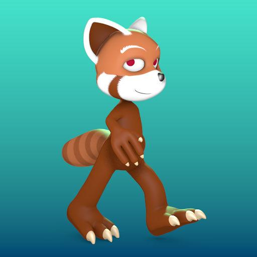 Red-Panda Project Walk-Cycle (WIP)