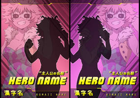 [BNHA S4] New Action Card Template (P2U) by Feorine