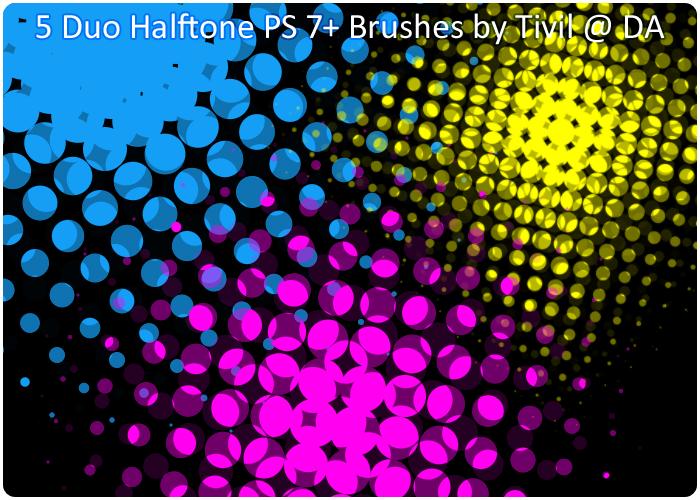 Photoshop Brush - Duo Halftone