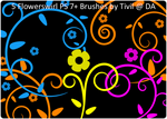 Photoshop Brush - Flowerswirl by Tivil
