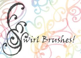 Sharpie Swirl Brushes by Lizzabeth