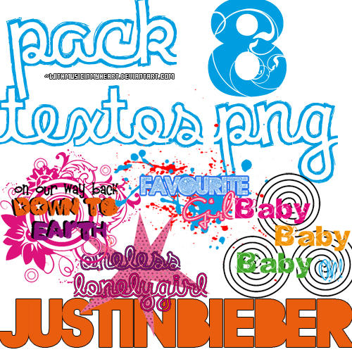 + 8 PNG textos Justin Bieber by withmusicinmyheart