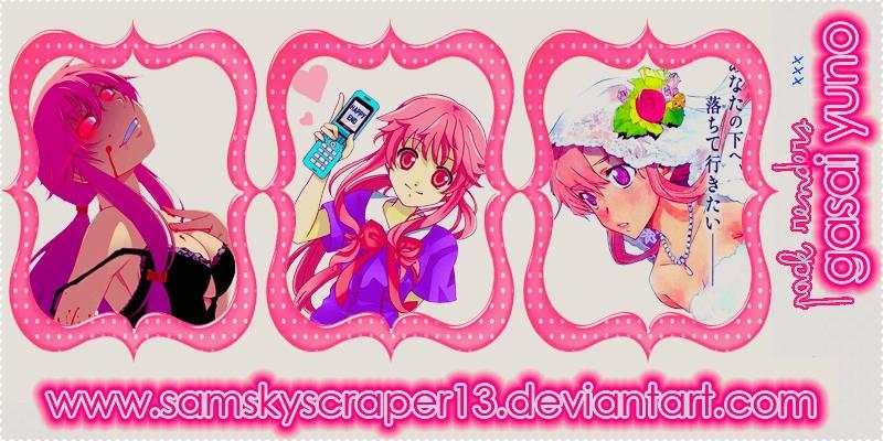 Pack De Renders De Gasai Yuno by SamSkyscraper13