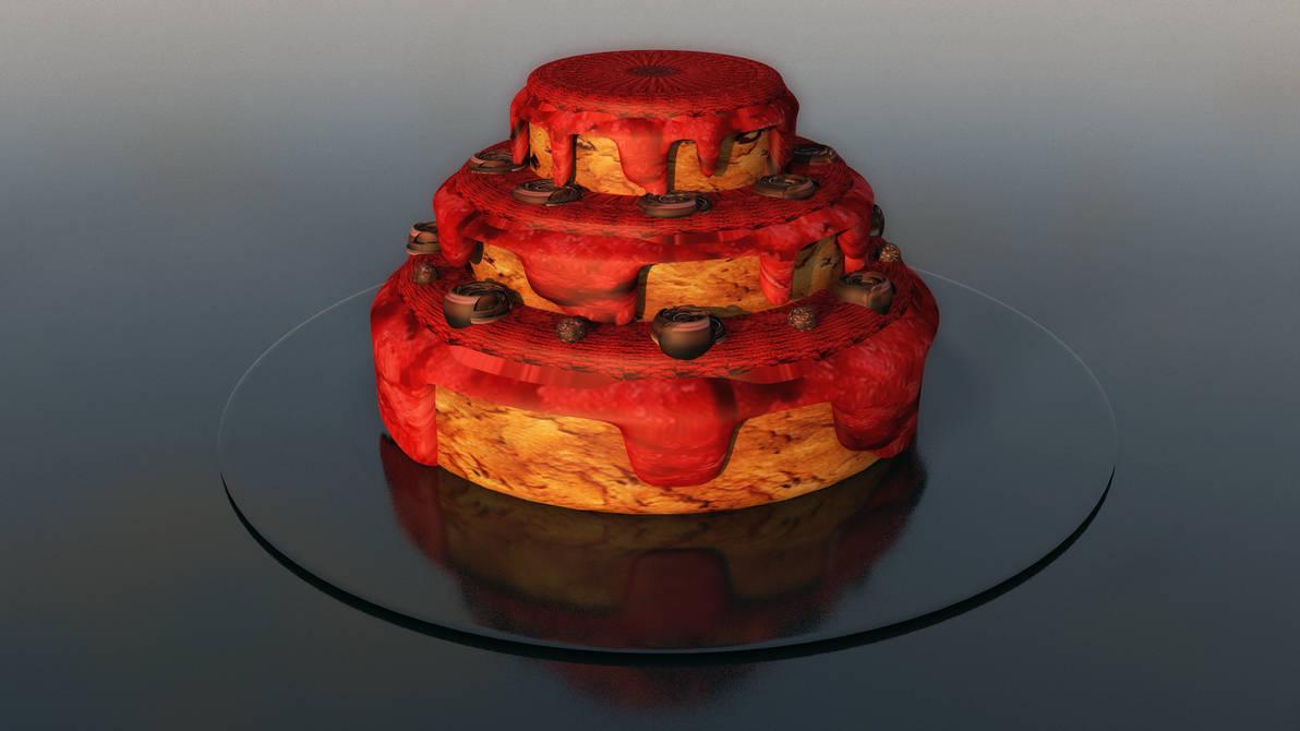 3D Model   Cake by TeeKeeuS87