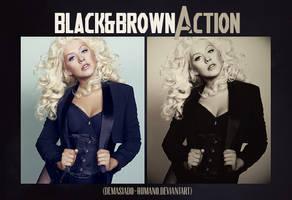Black and Brown Action by demasiado-humano