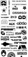 WipEout logos and texts