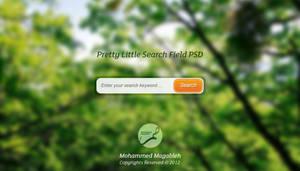Pretty Little Search Field PSD