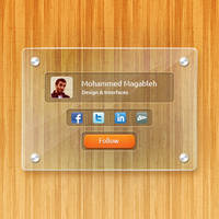 Glass Frame Free PSD by Magableh