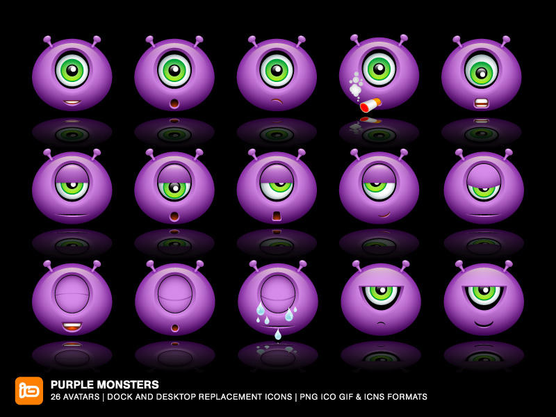 Purple Monsters by deleket