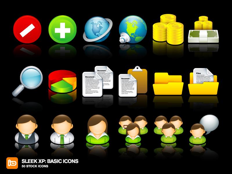 Sleek XP: Basic Icons