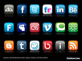 Social Networking Icons by deleket
