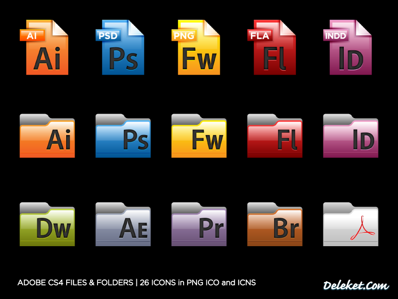 Adobe CS4 Files And Folders by deleket