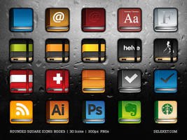 Rounded Square Icons: Books