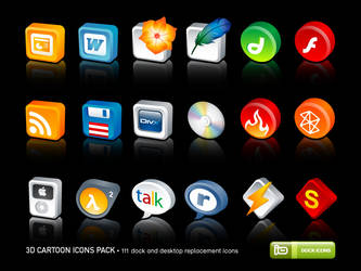 3D Cartoon Icons Pack by deleket
