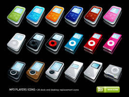 MP3 Players Icons by deleket