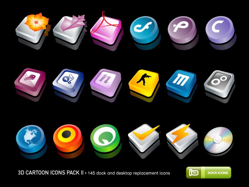 3D Cartoon Icons Pack II