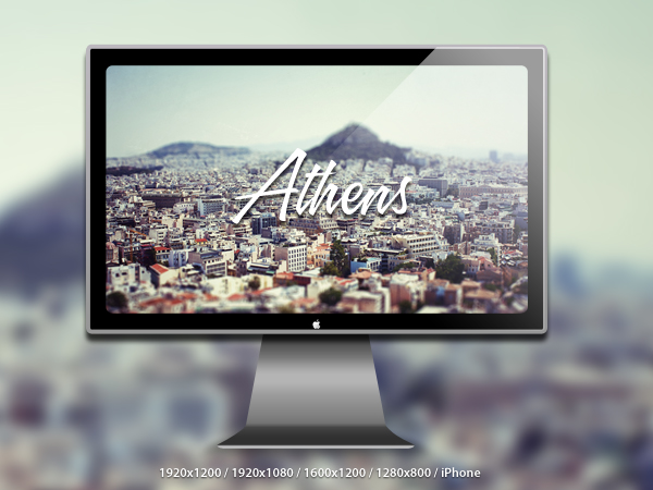 Athens Tiltshift Wallpaper