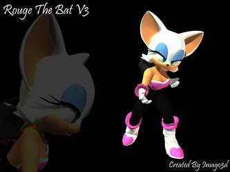 Rouge The Bat V3 Poser Figure by imago3d