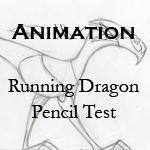 Running dragon - pencil test