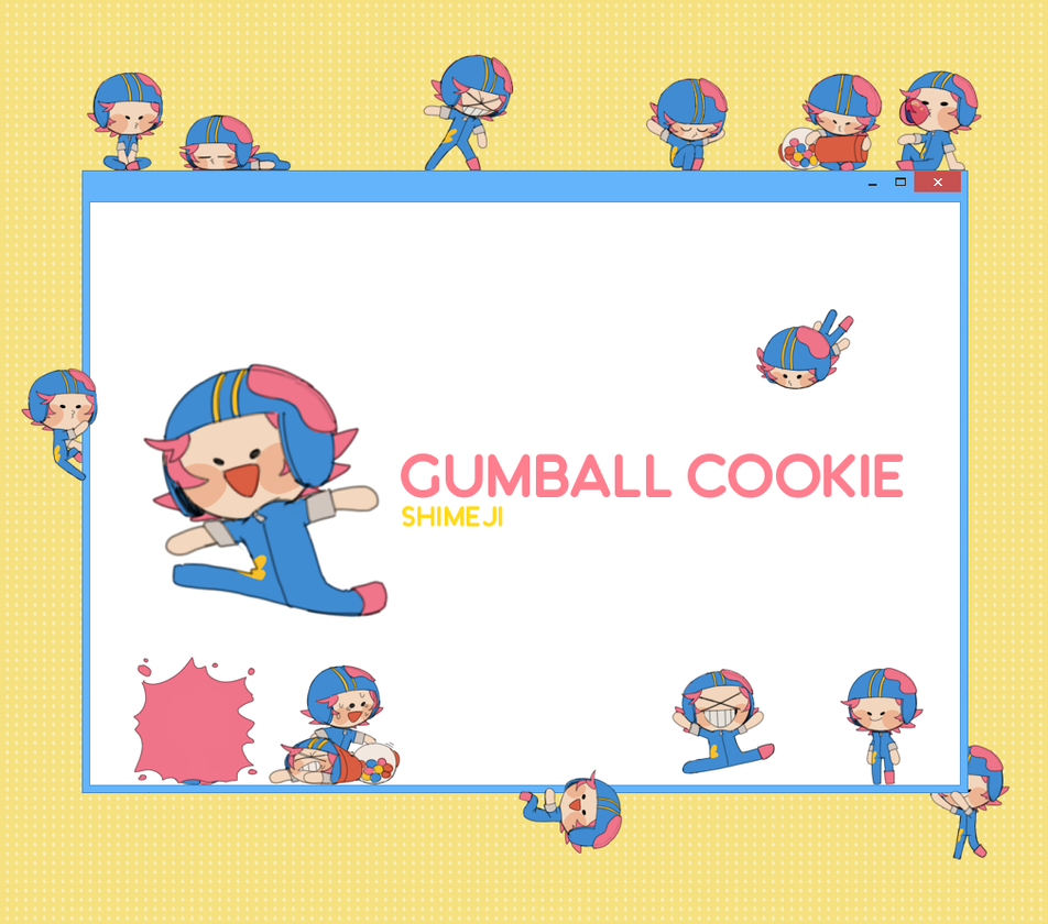 Gumball Cookie Shimeji + DOWNLOAD by bountiper