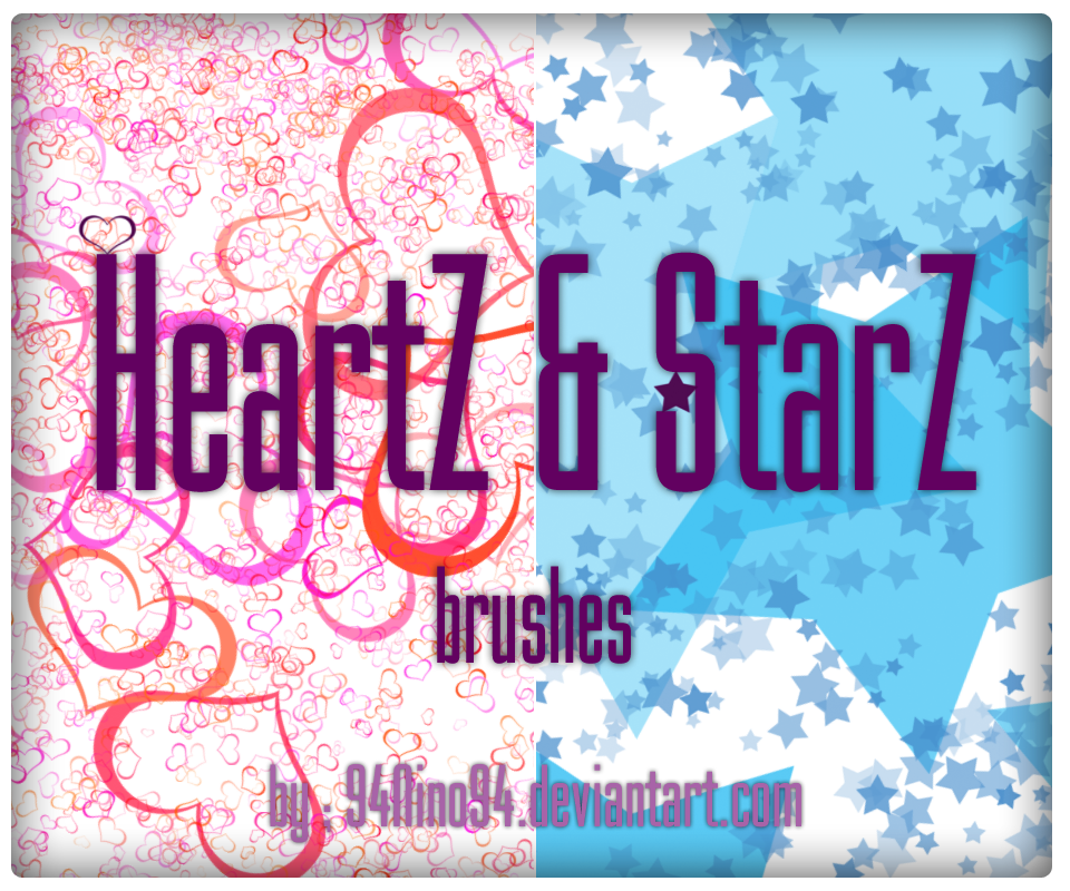 heartz and Starz ps brush by 94Nino94