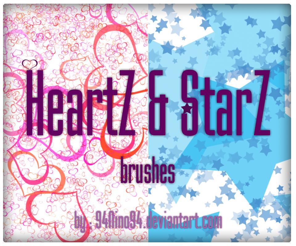 heartz and Starz ps brush by 94Nino94