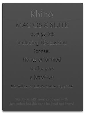 rhino MAC OS X GUIKIT by MrToNeR