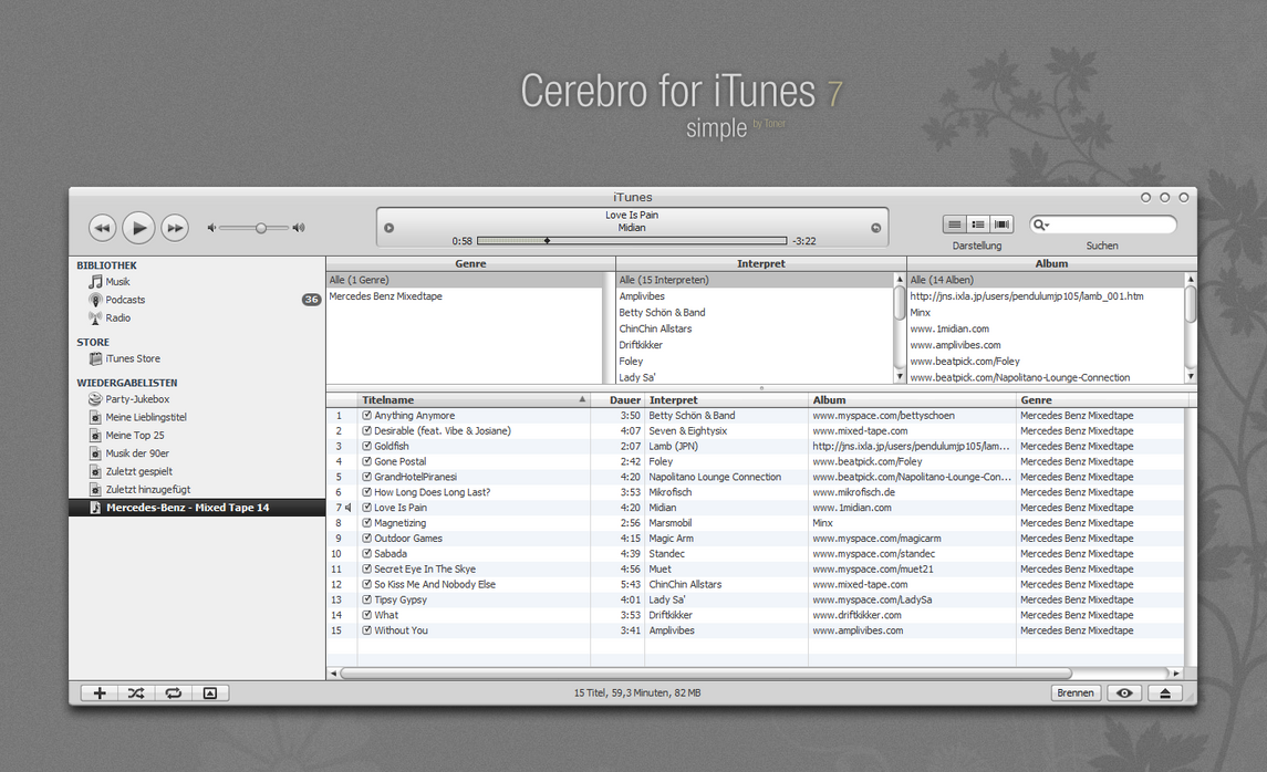 Cerebro skin for iTunes 7 by MrToNeR