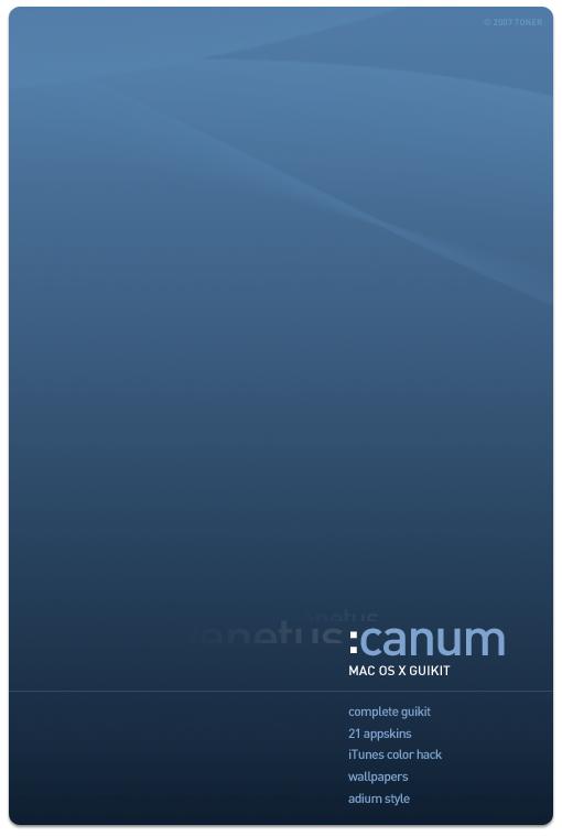 canum OS X GUIKIT by MrToNeR
