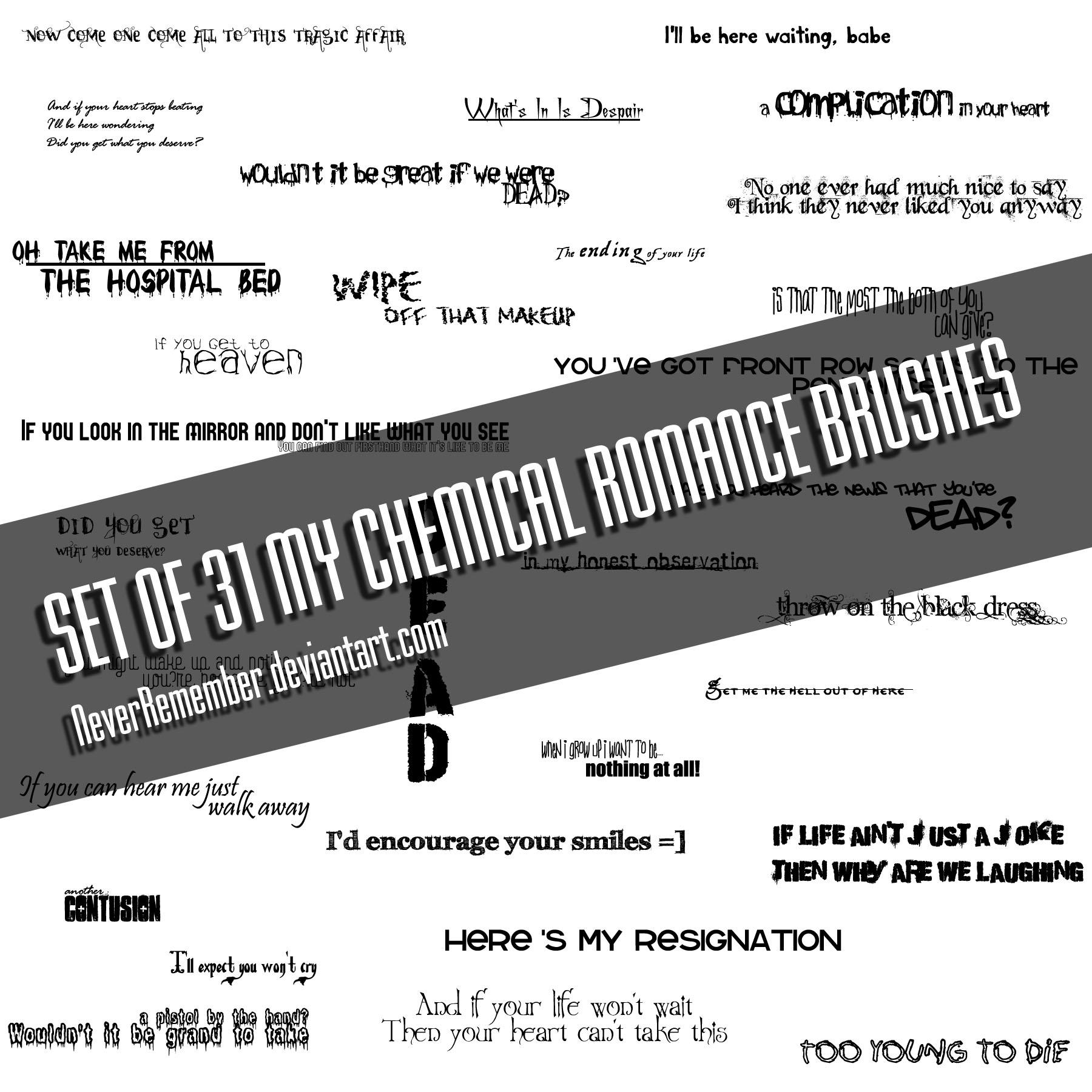 My Chemical Romance PS Brushes by NeverRemember
