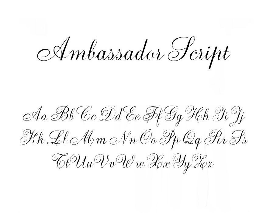 Ambassador script fonts. Rar download.