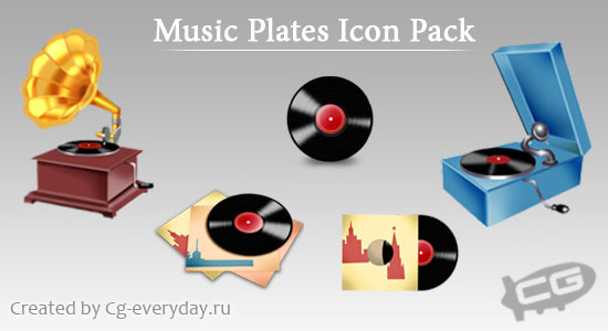 The OldMusic Plates -Icon Set by Customizer12
