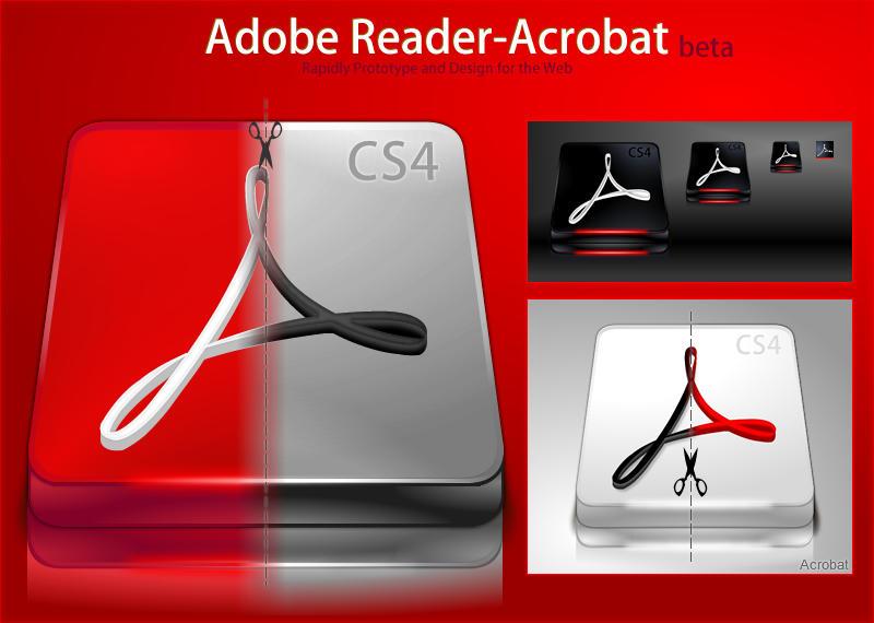 Adobe Reader - Acrobat CS4 by DragonXP