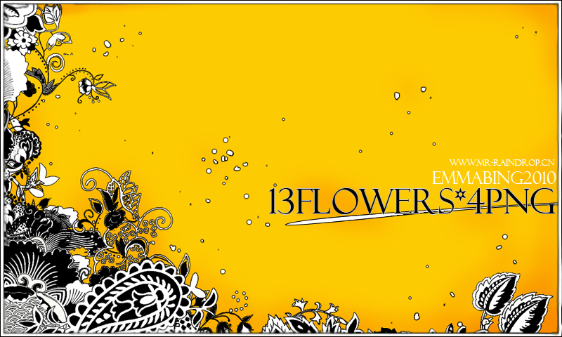 flowers-4pngs by Mr-raindrop-Emmabing