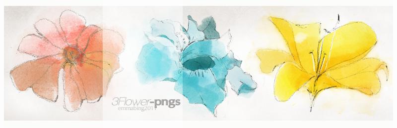 3INK-flower-pngs by Mr-raindrop-Emmabing