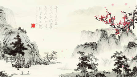 Chinese landscape painting Live Wallpaper
