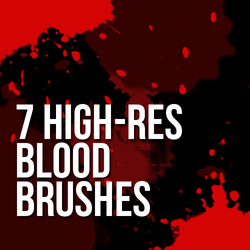 7 High-Resolution Blood Brushes by LaytonStock