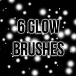6 High-Resolution Glow Brushes