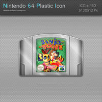 Nintendo 64 Plastic Cartridge Icon by blinkybill