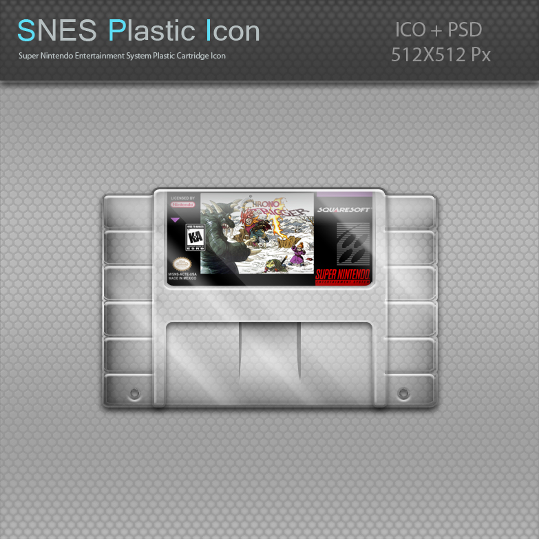 SNES Plastic Cartridge Icon by blinkybill on DeviantArt