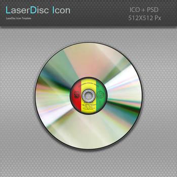 LaserDisc Icon Template