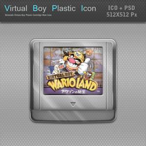 Nintendo Virtual Boy Plastic Cartridge Icon