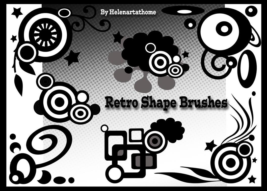 Retro Shape Brushes by Helenartathome