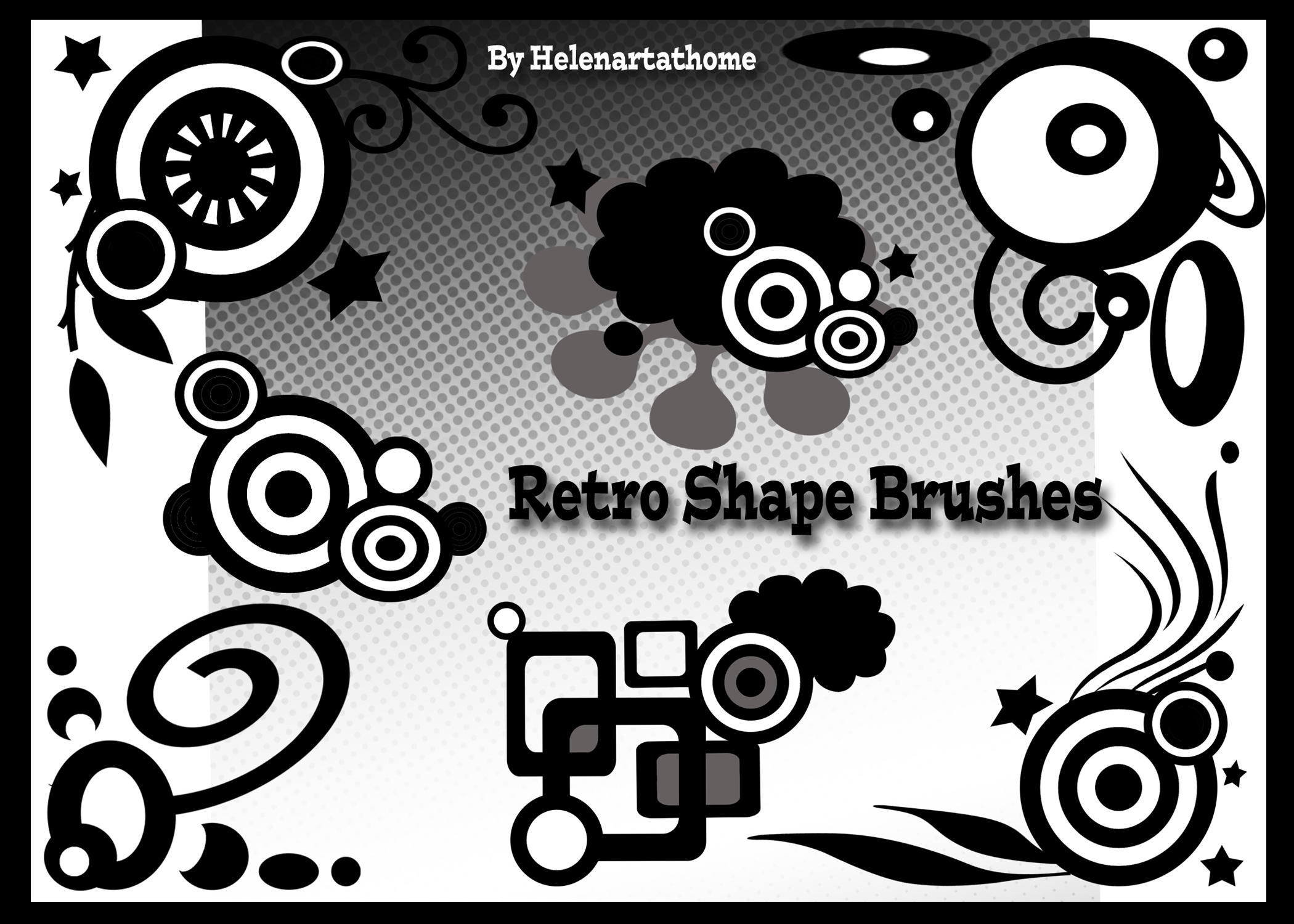 Retro Shape Brushes by Helenartathome