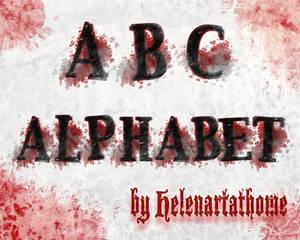ABC Grungy Alphabet Brushes