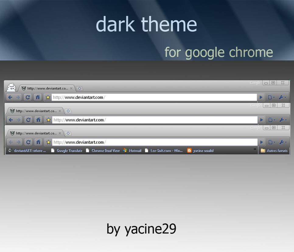 dark theme for google chrome by yacine29