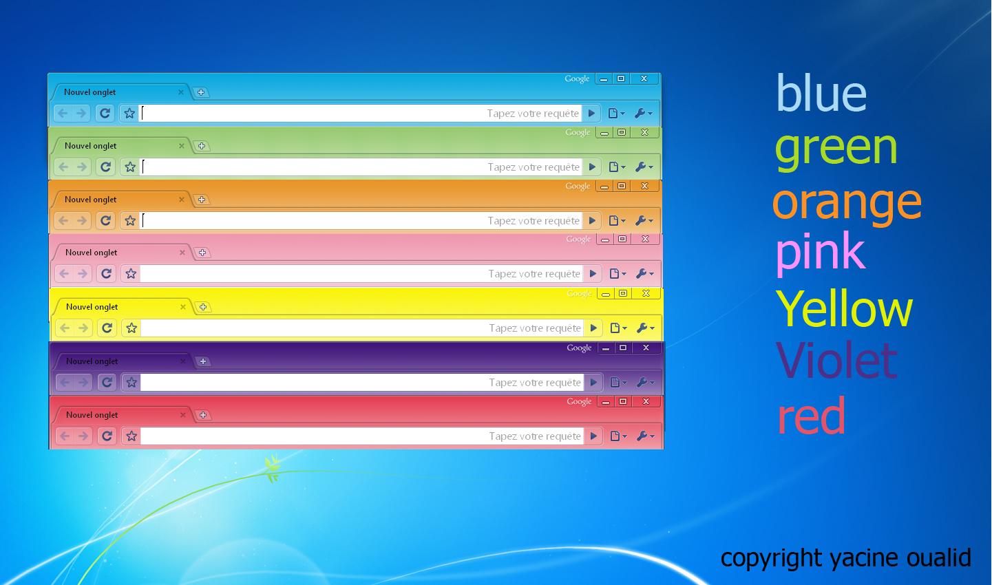 All Color Google Chrome By Yacine29 On DeviantArt