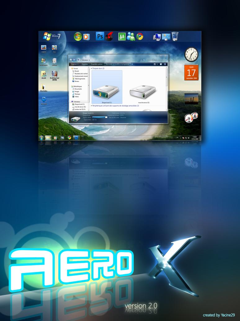 Aero X  v2.0 for windows 7 by yacine29