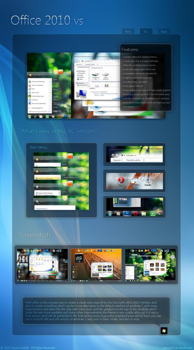 Office 2010 vs RC by yacine29